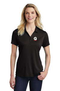Gutterglove® EMBROIDERED FLC WHITE & RED G - Ladies Performance Polo - Black