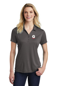 Gutterglove® EMBROIDERED FLC WHITE & RED G - Ladies Performance Polo - Dark Grey