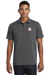 Gutterglove® EMBROIDERED FLC WHITE & RED G - OGIO® Unisex Polo - Dark Grey