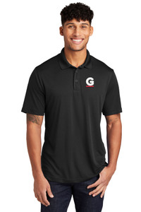 Gutterglove® EMBROIDERED FLC WHITE & RED G - Unisex Performance Polo - Black