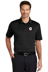 Gutterglove® EMBROIDERED FLC WHITE & RED G - TALL Performance Unisex Polo - Black