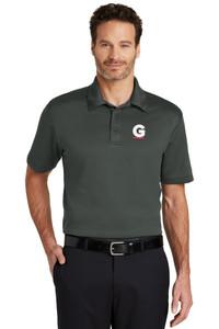 Gutterglove® EMBROIDERED FLC WHITE & RED G - TALL Performance Unisex Polo - Dark Grey