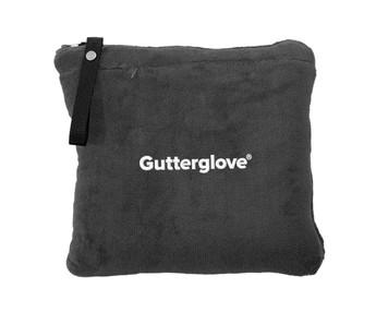 Gutterglove® EMBROIDERED WHITE WORDMARK - Zippered Travel Blanket - Grey