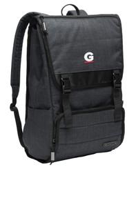 Gutterglove® EMBROIDERED WHITE & RED G - OGIO® Apex Rucksack - Heather Grey