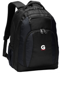 Gutterglove® EMBROIDERED WHITE & RED G - Commuter Backpack - Black