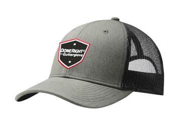 Gutterglove® EMBROIDERED DONERIGHT® - Trucker Cap - Heather Grey / Black