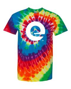 """Expedia """"E"""" Rainbow Tie-Dye Tee"""