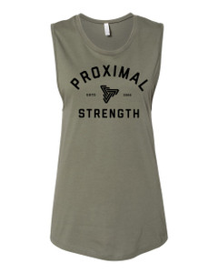Proximal Strength BLACK LABEL Ladies Muscle Tank - Military Green