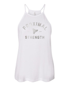 Proximal Strength SILVER FOIL LABEL High Neck Tank - White