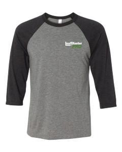 Gutterglove® FLC WHITE LEAFBLASTER PRO® - Premium Unisex Baseball Tee - Grey / Charcoal Triblend