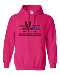 Cars for K9's Fleece Hoodie - Heliconia