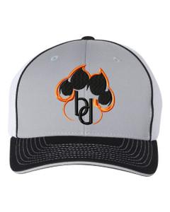 Brentsville PAWPRINT Richardson Premium Baseball Cap - Grey/White/Black
