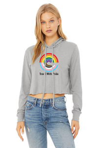 Expedia TRAVEL WITH PRIDE Cropped Tee - Athletic Heather