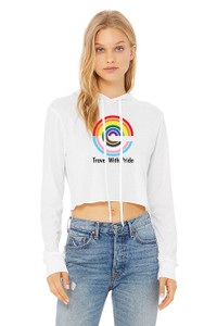 Expedia TRAVEL WITH PRIDE Cropped Tee - White