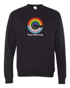 Expedia TRAVEL WITH PRIDE Premium Crewneck Sweatshirt - Black
