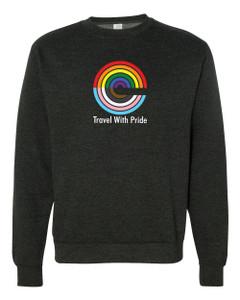 Expedia TRAVEL WITH PRIDE Premium Crewneck Sweatshirt - Charcoal Heather