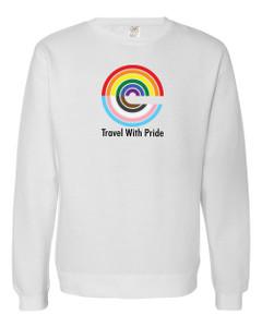 Expedia TRAVEL WITH PRIDE Premium Crewneck Sweatshirt - White