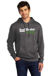 Gutterglove® FULL FRONT WHITE LEAFBLASTER PRO® - Premium Unisex Hoodie - Heathered Charcoal