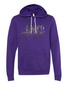 Dance Canvas FOIL Unisex Premium Hoodie - Purple