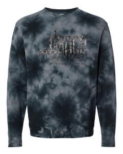 Dance Canvas FOIL Unisex Tie Dye Sweatshirt - Black