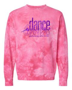 Dance Canvas FOIL Unisex Tie Dye Sweatshirt - Pink