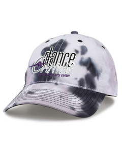 Dance Canvas EMBROIDERED LOGO Tie Dye Cap - Greyscale