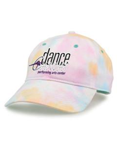 Dance Canvas EMBROIDERED LOGO Tie Dye Cap - Sorbet
