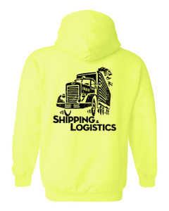 SMC Packaging Group SHIPPING & LOGISTICS Hoodie - Safety Green