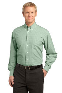 Meeks Port Authority® Plaid Pattern Easy Care Shirt