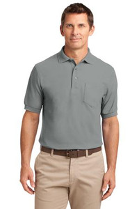 Meeks Port Authority® Silk Touch™ Pocket Polo