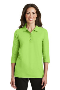 Meeks Port Authority® Silk Touch™ 3/4-Sleeve Polo - Ladies