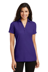 Meeks Port Authority® Silk Touch™ Y-Neck Polo - Ladies