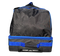 Top of bag equipped with a handle and a retractible handle for easy maneuvering