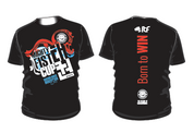Men's shirt in black with 2017 Mightyfist Cup design. Extra soft material for great comfort.