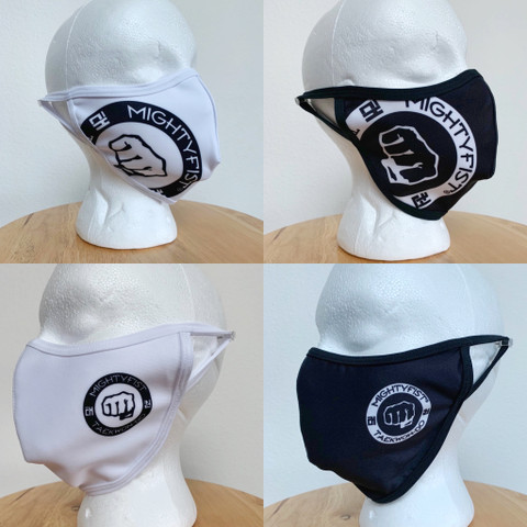 Adult face masks in both designs and in both colors. Sold as a pair.