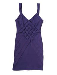 Cross knit bodycon dress