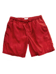 Red hot swimming trunks
