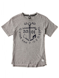 G-star Raw distressed grey anchor tee