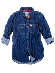 Dark wash denim shirt