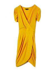 Pineapple wrap dress