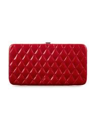Red patent clutch