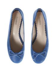 Sambag blue soft leather ballet flats