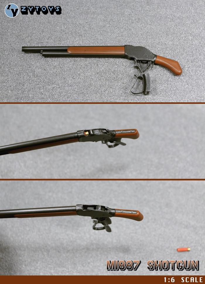 ZYTOYS 1//6 Scale M1887 Shotgun Model Shot Gun Fit for The Terminator T800