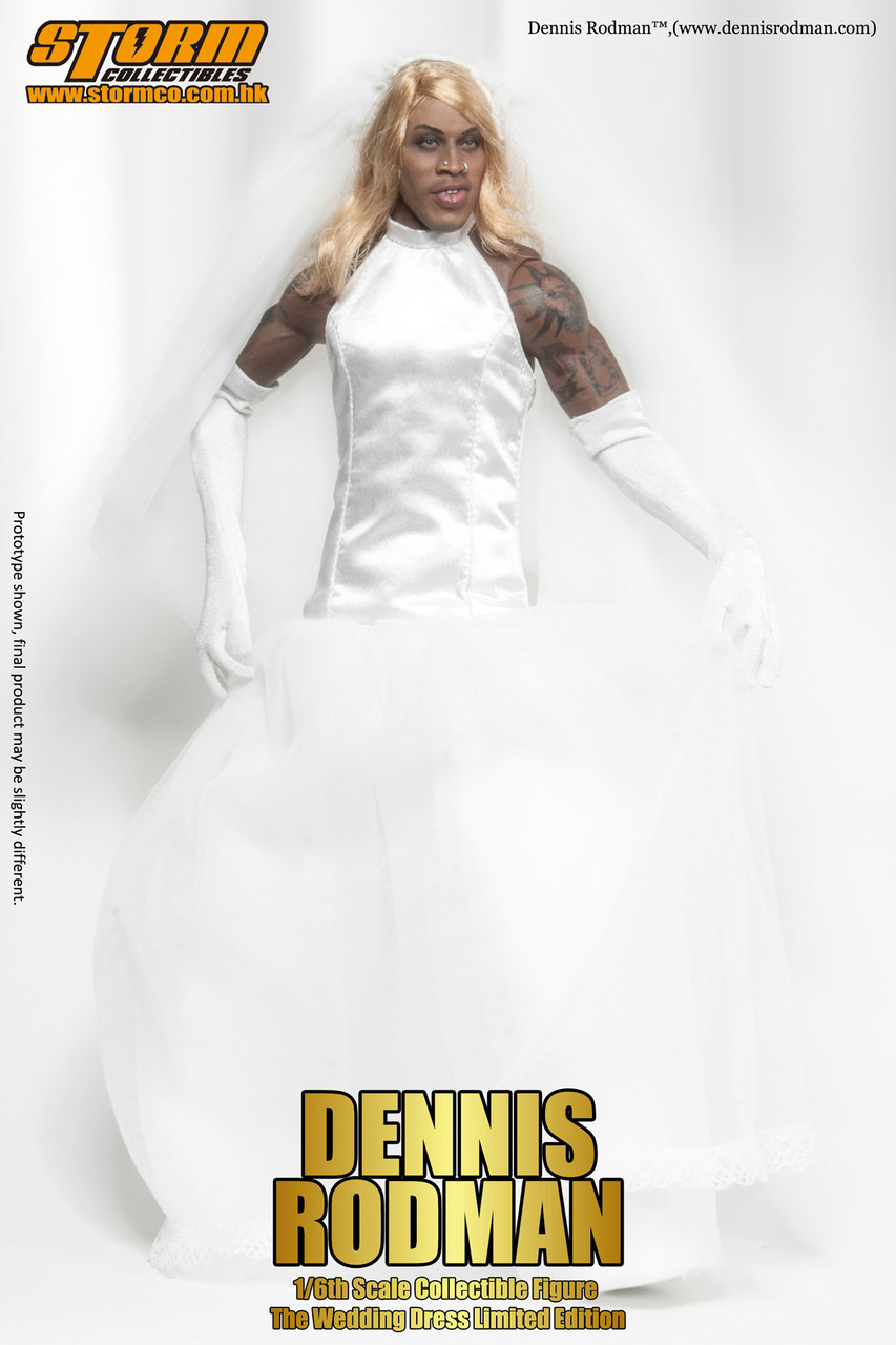 """SM-1402SE  Storm Collectables I m Dennis Rodman """"The Wedding Dress""""  Special Edition 1 6 Collectible Figure 30a2e5f02b75"""
