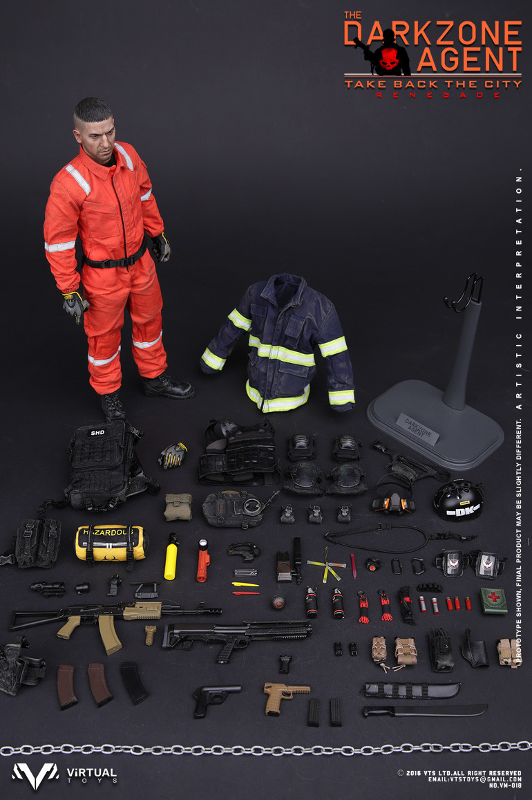Vm 018 Virtual Vts Toys The Darkzone Agent Renegade 1 6