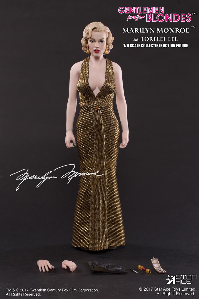SA-0016] Star ACE Marilyn Monroe Gold Dress Version - EKIA Hobbies