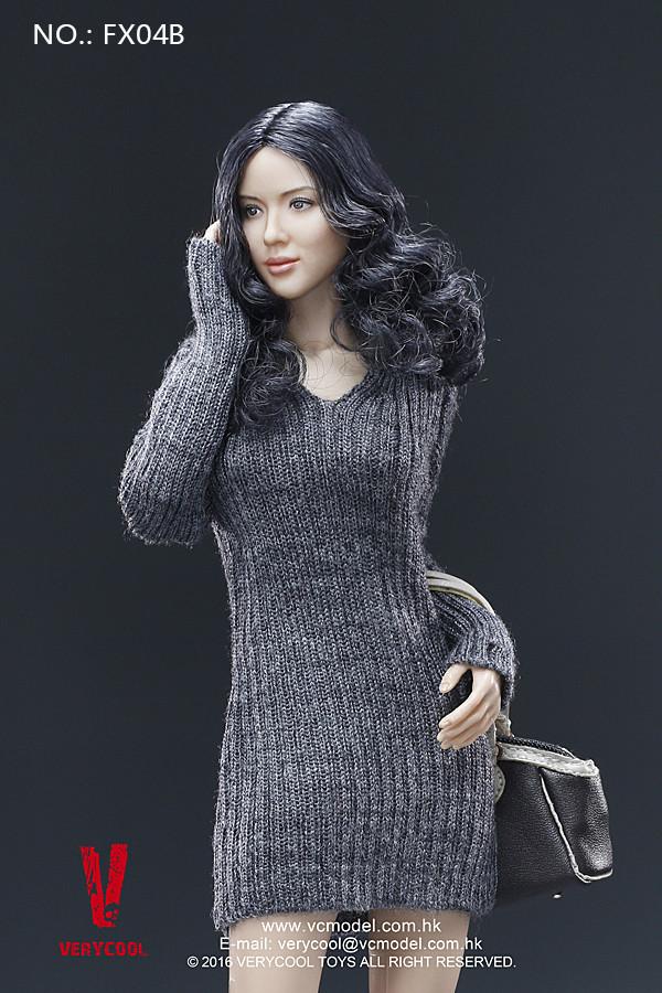 VERYCOOL 1/6 FX08-B Beauty Straight Hair Female Head