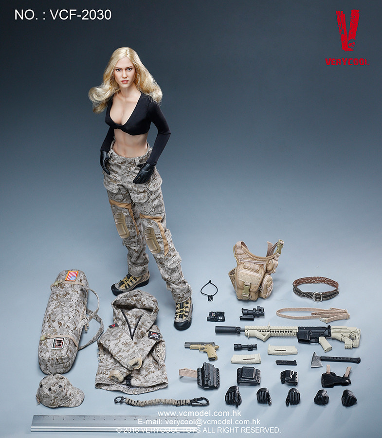 vcf 2030 very cool digital camouflage women soldier max boxed