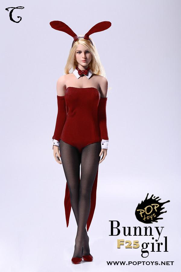 Pop-F25C Pop Toys 16 Sexy Waitress Bunny Girl Suit In -5516