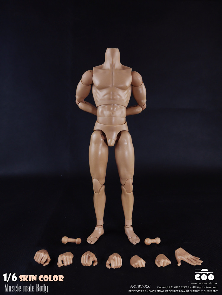 COOMODEL BD004 1//6 Scale Skin Color 2.0 Muscle Male Body Action Figure 27CM